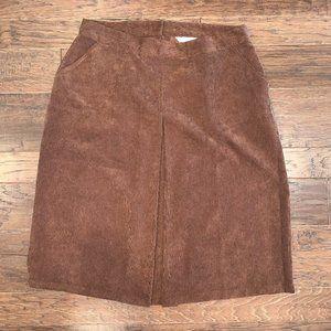 Christopher & Banks Brown Corduroy Skirt  16W